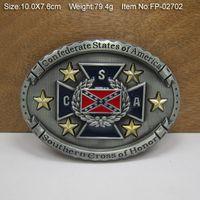 Wholesale 3D CSA REBEL Belt Buckle Pride Rebel Flag confederate flag belt buckle USA southern battle flag belt buckle