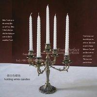 Wholesale H31cm Classic antique rare metal branch candelabrum candelabra candle holder candlesticks candlestick embossed bronze B009