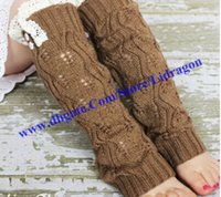 christmas leg warmers - Leg Warmers Christmas Girls Knit Leg Warmer Crochet Lace Trim Leg warmers Baby Boot Cuffs Cover Socks Girls Lace Warmers pairs