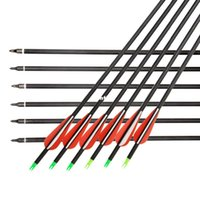 Wholesale New Arrive Carbon Arrow set quot Archery Arrows with Changeable Arrowheads and Plastic Feathers for Hunting and Shooting