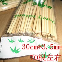 Wholesale 30 cm mm bamboo stick about root natural mutton string prods barbecue tools barbecue needles