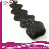Cheap Top selling Natural Scalp color AAAAA Grade in Stock silk base top closure Body Wavy virgin Brazilian human hair closures 4x4 free shipping