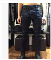 american levels - 2016 Balmain spring new winter knee level folding locomotive Slim jeans men s Variety
