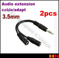 audio plug adapters - Brand Gold plated Audio Stereo Plug mm Male to Female Adapter Cable Spliter microphone and headphone