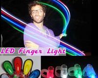 Wholesale LED Finger Light Laser Finger Beams Ring Torch For Party wedding celebration Laser Finger Beams DHL buy Hot Sale JF B8