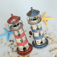 navigation light - Mediterranean Style Vintage Retro Look Pastoral Style Lighthouse Model Candle Holder Beacon Model navigation light Model