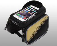 big bike bag - Big discount Waterproof Cycling Bike Bicycle Frame Front Tube Bag For Cell Phone mobile Pannier bag basecam car beam packet
