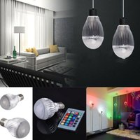 Wholesale LED Lamp Light W E27 RGB LED Color Light Changing Lamp Bulb V With RC Remote Control Led Lights