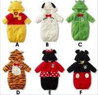 tigger - Cartoon Winnie Tigger Mickey NewBorn Infants Babys Cotton Bodysuits Rompers Climb Clothing Jumpsuit Winter Boys Girls Warm One Piece K2632