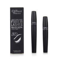 cosmetic eyelash - QiBest D Fiber Lashes Mascara Cosmetics Mascara Black Double Mascara Set Makeup Lash Eyelash Waterproof New Mascara set