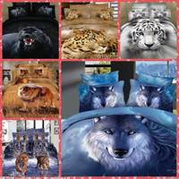 adults quality comforter set - High Quality Home Texiles d Animal Wolf Tiger Bedding Sets Queen Size Bedclothes Duvet Quilt Cover Sheet Bed Spreads Cotton Top Sale