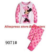 Cheap Hot Children boys girls kids Clothing Set Minnie- Mouse suits sleepwear Fashion long sleeve cartoon pajamas Professional Store