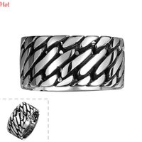 punk - Top Vintage Punk Finger Ring Unique Carved Antique Silver Totem Leaf Lucky Rings for Men Women Boho Man Wide Rings Fashion Jewelry GMYR094