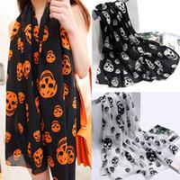 Wholesale Korean style velvet chiffon scarves jewelry silk scarves wraps shawl skull women printed beach towels inch inch