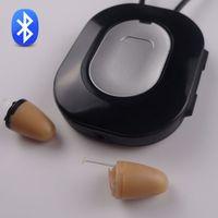 Wholesale 4 Watt Amplifier Bluetooth Neckloop Professional with invisible mini wireless earpiece Super Mini Micro Earbud