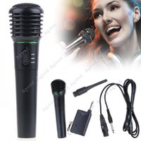 Wholesale 2in1 Wired Wireless Handheld Microphone Mic Receiver System Undirectional SV002839
