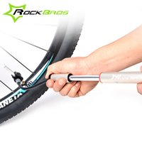 bicycle tire inflator - Road Bike MTB Alloy Cycling Bicycle Mini Hand Portable Pump Presta Schrader Valve Tire Inflator Air Pump Skidproof