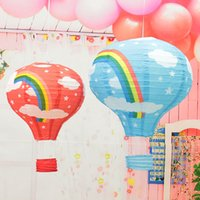 Wholesale 2016 new inch Hot Air Balloon Paper Lantern Wedding Party Birthday Garden Decorations Kids Gift Craft