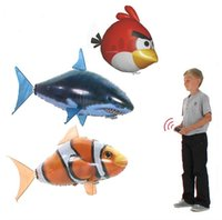 Wholesale 1pc Genuine In space remote control flying shark or clownfish Children s Day gift seeking wedding d house ball pool the tent