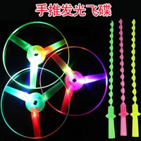 bamboo dragonfly manufacturers - Hand luminous UFO Frisbee flash light emitting bamboo dragonfly flying fairy toy manufacturers classic