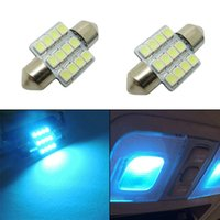aqua parks - 2 Car Bulbs SMD LED Working Light Car Interior Aqua Blue Lights CLT_00P
