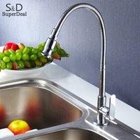 Wholesale Promotion Rotation Single tube Kitchen Faucet Chrome Sink Torneira Cozinha Cold Tap Single Handle Faucet b7