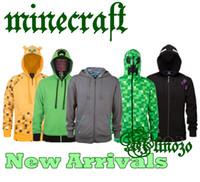 Wholesale Cartoon Minecraft Creeper Zip Up Hoodie Minecraft Ocelot Enderman TNT Zipper Hoodies Coat Coats Jacket For Youth Styles Premium Factory