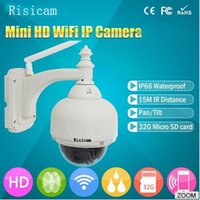 Wholesale Risicam Megapixel P T IR Cut Wireless WiFi CCTV NightVision with G TF Card hd outdoor ptz ip camera wide angle cctv camera