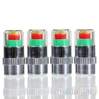 Wholesale 4PCS Car Auto Tire Pressure Monitor Valve Stem Caps Sensor Indicator Eye Alert Diagnostic Tools Kit NOH