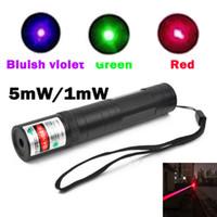 powerful flashlight - Powerful flashlight style mW nm Green Red Bluish violet light Beam Laser Pointer Pen For SOS Mounting Night Hunting teaching Xmas gift