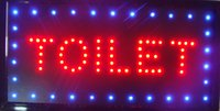 Wholesale 2016 LED toilet signs hot sale X19 inch indoor Ultra Bright running WC Neon light sign