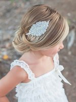 Wholesale Cheap Crystal Flower Girls Head Pieces Rhinestones Colorful Colors Kids Head Accessories Wedding Kid Head Wear