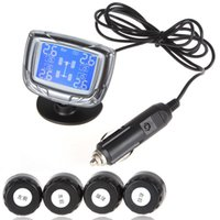 Wholesale InChange TPMS LCD Auto Car Tire Tyre Pressure Monitor Monitoring System Pressure Gauge With Sensors Freeshipping