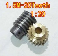 Wholesale 1 M T reduction ratio copper worm gear metal worm reducer transmission parts gear hole mm rod hole mm