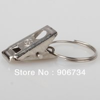 Wholesale Curtain Accessories Stainless Steel Window Shower Curtain Rod Clips Rings Drapery Clips on Discount
