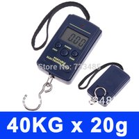 Cheap 250pcs Factory Price 40kg 20g Fishing Weighing Digital Luggage Scale with retail package