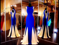 out of - Plus Size Mother of the Bride Dresses with Crystals Jewel Sleeveless Side Cut Out Beaded Mermaid Mother of the Groom Long Evening Gowns