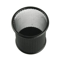 Wholesale Creative Steel Metal Mesh Cylinder Pen Pencil Eraser Stationery Holder Container Pen Case Office Supplies Pen Container