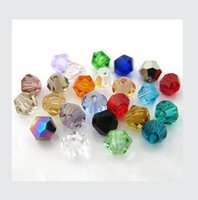 Wholesale 3MM DIY Crystal Crystal beads two sharp diamond tip beads Colors You Choose