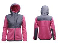 Hooded womens jackets - Lowest Price Winter Christmas Fleece Womens Fleece Hooded Jacket Winter Outdoor Sports Warm Fleece Sweatshirt Outerwear Black White S XXL