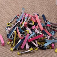 alligator clips - Alligator Clips Hair Clips Ribbon Metal Clips For Girls Children Hair Accessories Hair Barrettes