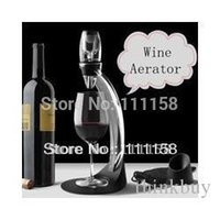 Wholesale Deluxe Wine Aerator Tower Set Red Wine Glass Accessories Quick Magic Decanter With Gift Box set DHL xx