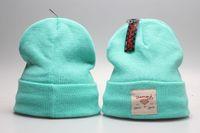 baseball party supplies - Fashion man women light blue Diamond Supply Co Beanie Knitted crochet wool beanie Street Baseball hip hop hat cap warm winter beanie hats YP