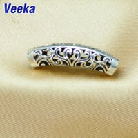 Wholesale Tibetan Silver Hole Connectors Open Flower Design DIY Jewelry Findings Components National Style