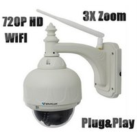 Wholesale HD1280 P Vstarcam T7833WIP X3 Outdoor PTZ X Zoom P2P Plug and Play Pan Tilt Wireless WiFi IP Camera Security Micro SD Card