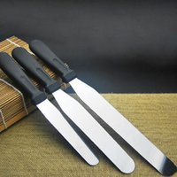stainless steel cake knife - New Arrive Stainless Steel Baking Tools Inch Plastic Handle Cream Knives Cake Tool Cake Knife JE0089 JE0089