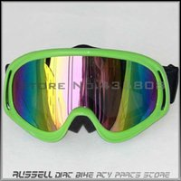 Wholesale NEW Green Off Road Cycling Goggle Motorcycle Glasses Scooter Dirt Bike Quad ATV MX Racing Helmet Goggles