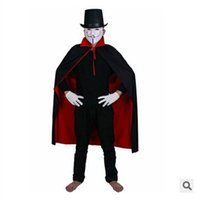 azrael costumes - GN C006 Double layer clothes Cosplay dress Azrael mantle with hat cosplay manteau dress smock stand up collar cape overcoat
