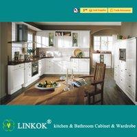 Wholesale Linkok Furniture white PVC kitchen cabinets and lacquer paint kitchen cabinets and lacquer spray paint kitchen cabinets