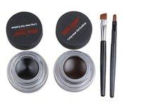 Wholesale Music Flower Eyeliner in Brown Black Long wear hours Gel Eyeliner Make Up Waterproof Cosmetics Set set